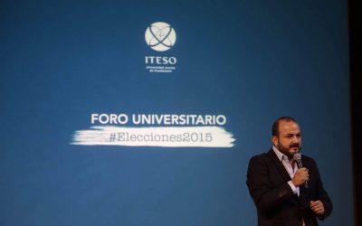 ESTUDIANTES DEL ITESO AL PRI: AFUERA ME REPRIMES Y AQUÍ PIDES MI VOTO
