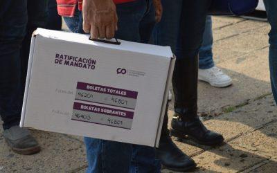 ENRIQUE ALFARO PASA LA PRUEBA DE LA RATIFICACIÓN DE MANDATO