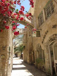 Barrio judio en la ciudad antigua de Jerusalén