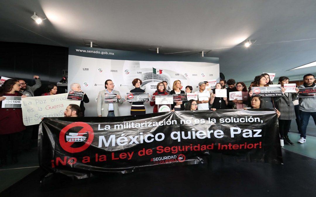 PIDEN AL SENADO ABRIR A ORGANIZACIONES DISCUSIÓN DE LEY DE SEGURIDAD INTERIOR