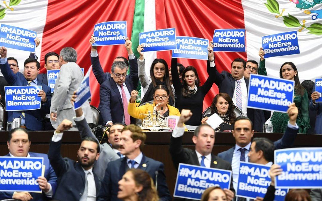 PAN EXIGE A AMLO DESINVITAR A NICOLÁS MADURO A TOMA DE PROTESTA