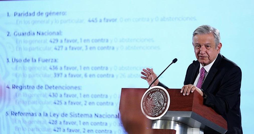 AMLO CELEBRA LEYES SECUNDARIAS DE LA GUARDIA NACIONAL
