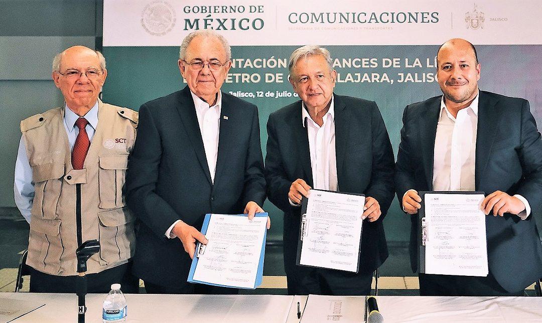 GOBIERNO DE MÉXICO Y JALISCO ACUERDAN CONSTRUCCIÓN DE LA L4 DEL TREN LIGERO
