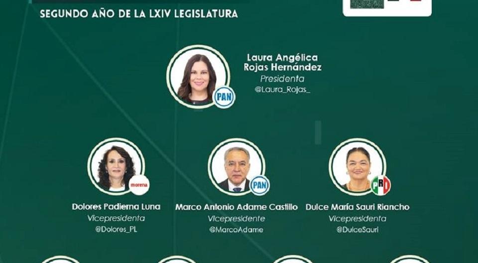 LAURA ROJAS PRESIDE MESA DIRECTIVA DE CÁMARA DE DIPUTADOS