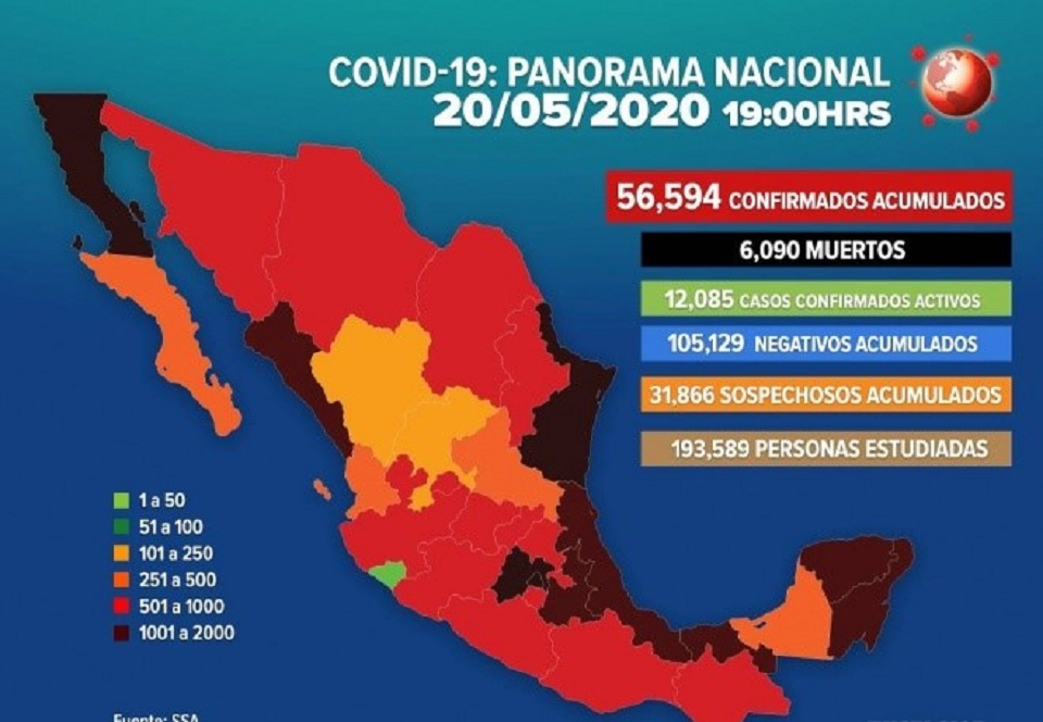DÍA NEGRO PARA MÉXICO, MUEREN EN UN DÍA 424 PERSONAS POR COVID-19