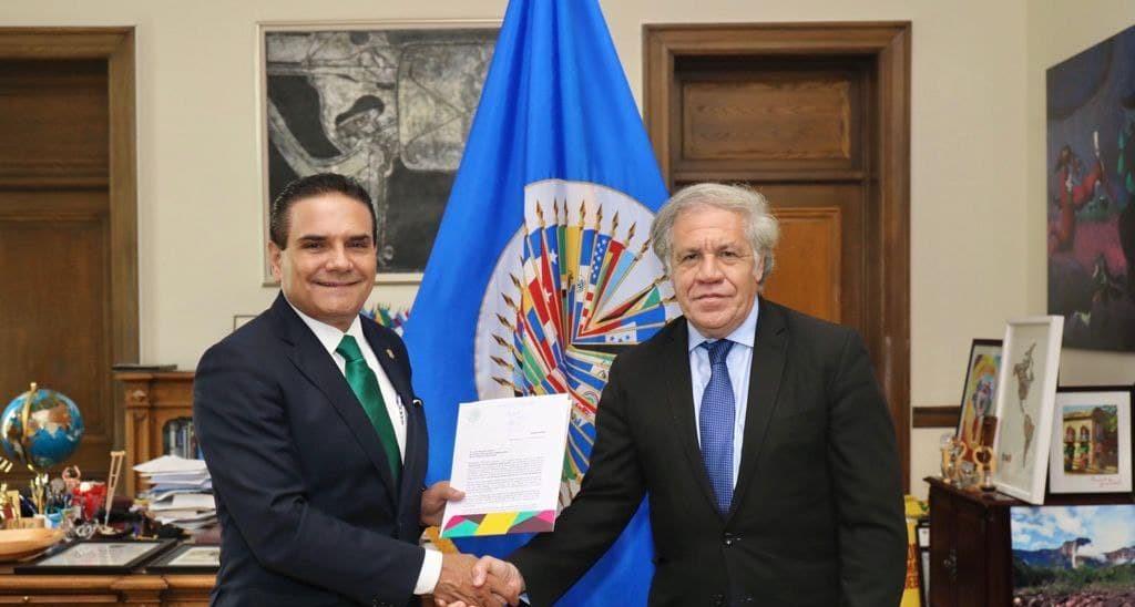 AUREOLES LLEVA PRUEBAS DE NARCO ELECCIÓN A LUIS ALMAGRO DE LA OEA