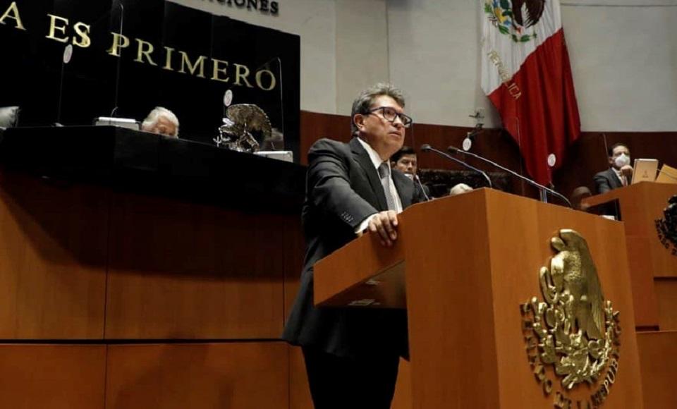 MONREAL AL INE: NO INTENTE SUSTITUIR AL PODER LEGISLATIVO